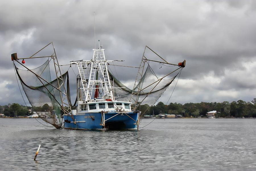 Shrimp Boat Photograph - Nanny Granny On The Bon Secour River by Lynn Jordan
