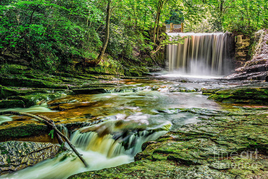 Architecture Photograph - Nant Mill Waterfall by Adrian Evans
