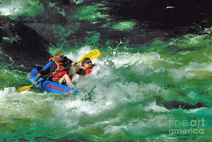 Nantahala Fun Photograph by Don F  Bradford