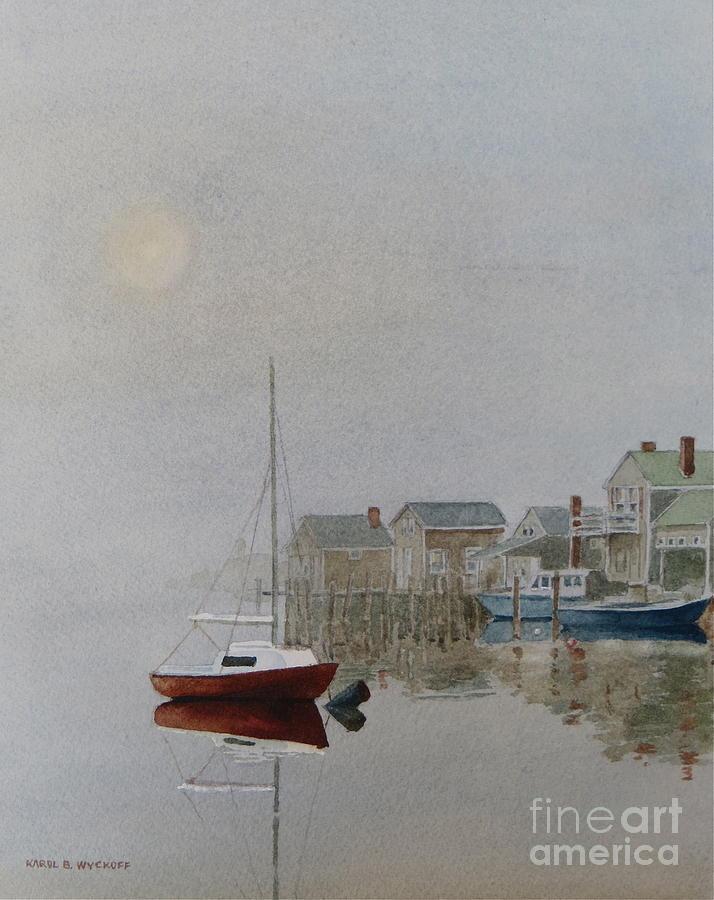 Dock Painting - Nantucket Fog by Karol Wyckoff