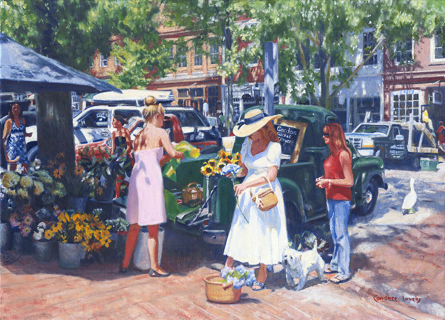 Nantucket Painting - Nantucket Main by Candace Lovely