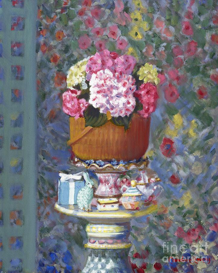 Still Life Painting - Nantucket Flower Parade by Candace Lovely