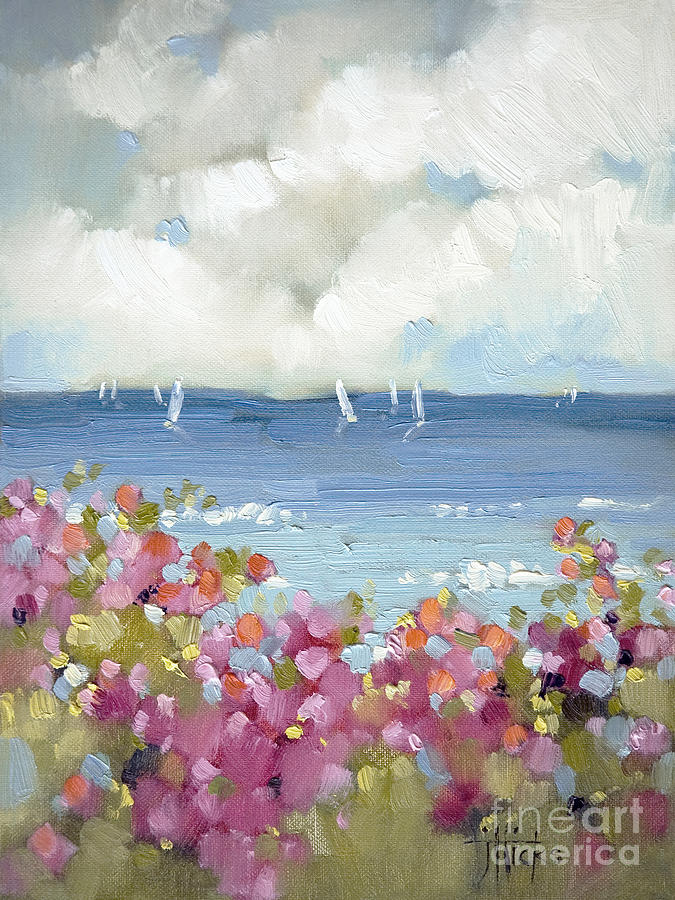 Nantucket sea roses painting by joyce hicks for Nantucket by the sea