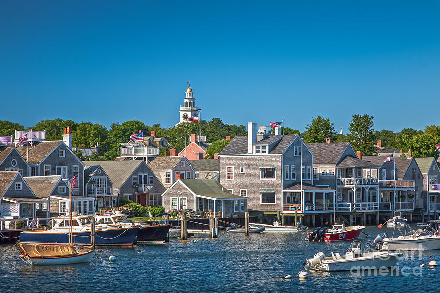 America Photograph - Nantucket Town by Susan Cole Kelly