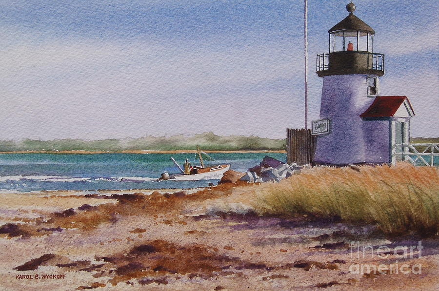 Lighthouse Painting - Nantucket Winter Light by Karol Wyckoff