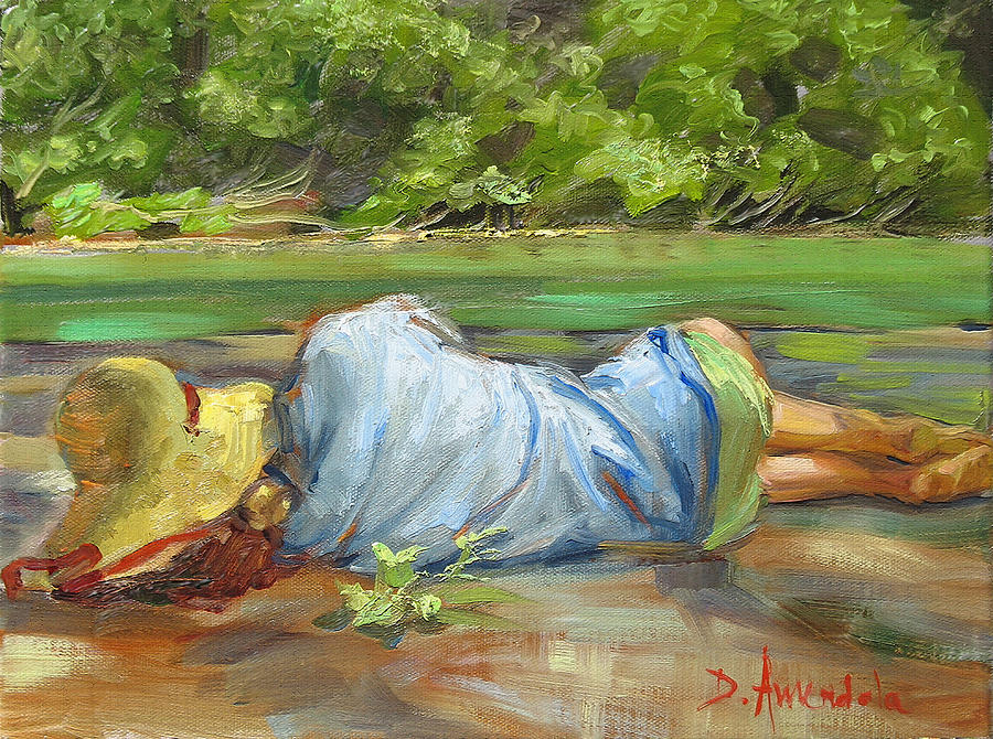 Nature Painting - Nap Time   La Sieste by Dominique Amendola