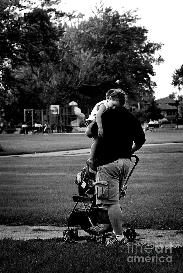 Nap Time With Daddy In The Park Photograph