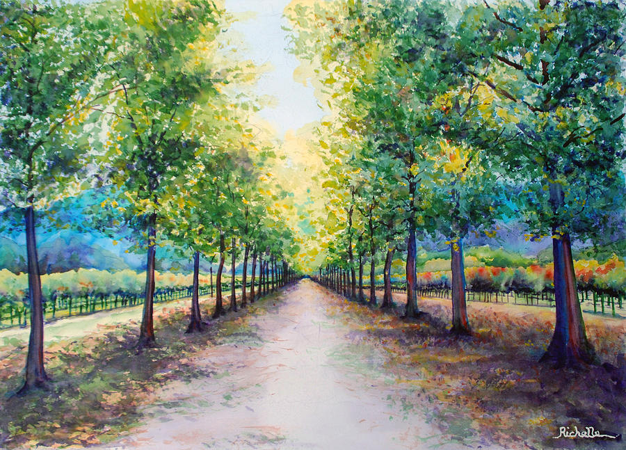 Winery Painting - Napa Road by Richelle Siska