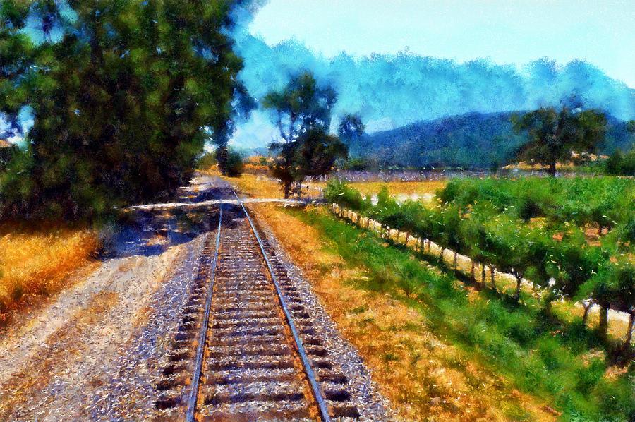 Napa Digital Art - Napa Valley Tracks by Kaylee Mason
