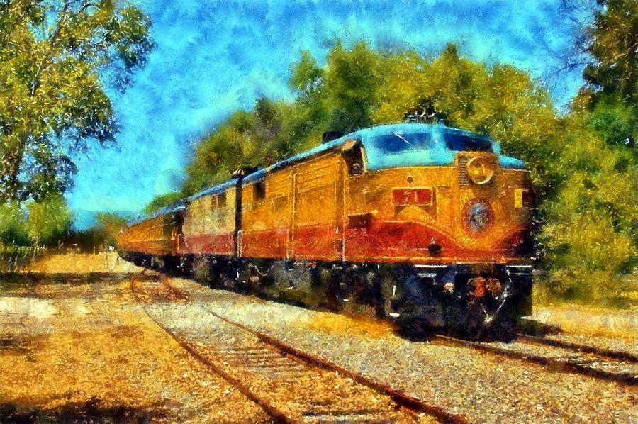 Napa Valley Wine Train Digital Art - Napa Valley Wine Train by Kaylee Mason