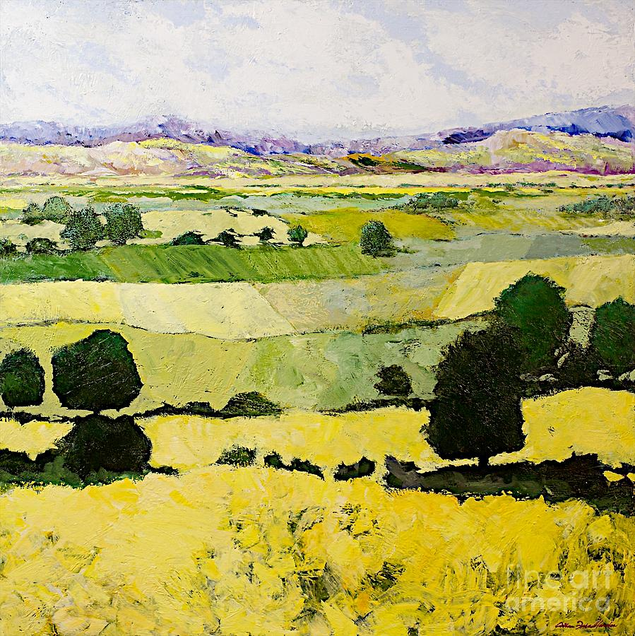 Landscape Painting - Napa Yellow2 by Allan P Friedlander