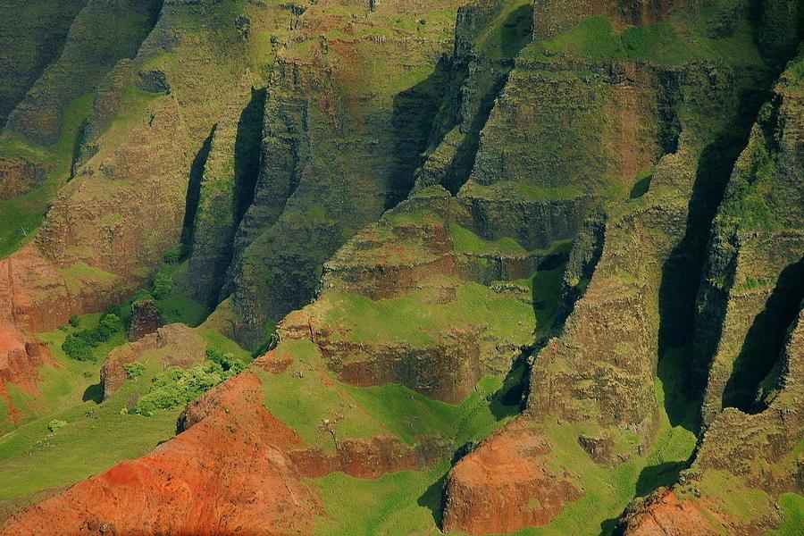 Hawaii. Photograph - Napail Coast Cliffs by Stephen  Vecchiotti