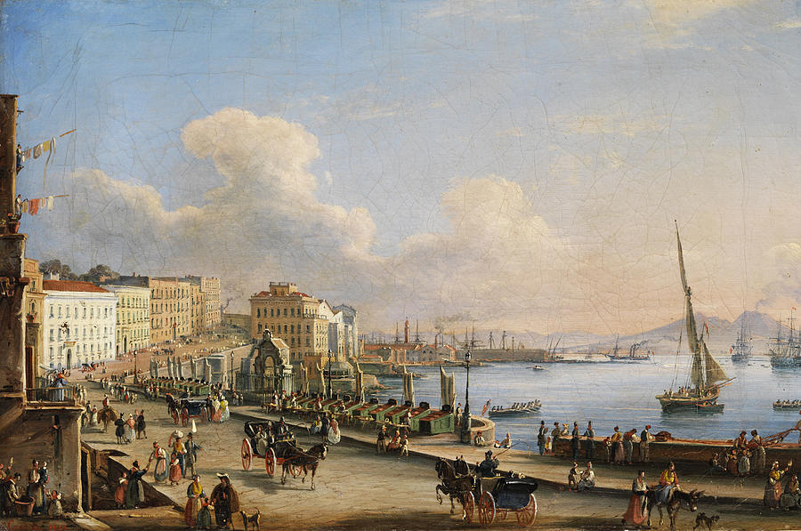 Italian Landscape Painting - Naples From Mergellina by Salvatore Candido
