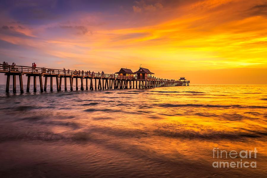 Naples Pier Sunset H Leschmann on Naples Florida Pier Sunset