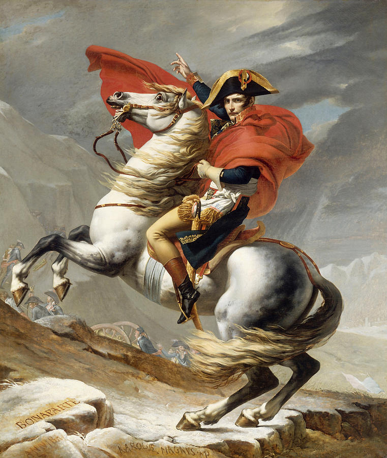 Napoleon Painting - Napoleon Bonaparte on Horseback by War Is Hell Store