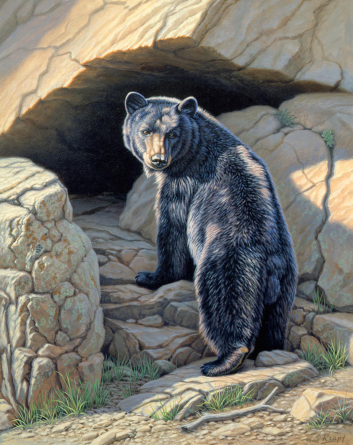 Wildlife Painting - Napping Place by Paul Krapf