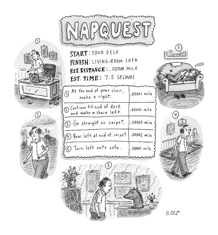 Napquest Drawing by Roz Chast