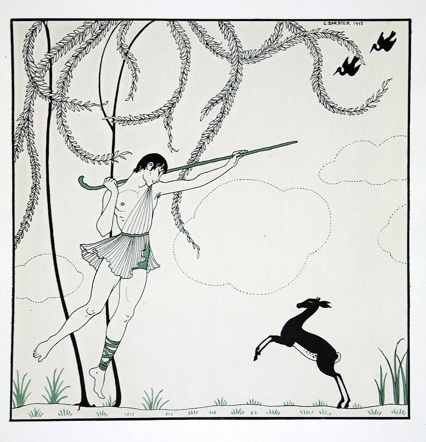 Ballet Painting - Narcisse by Georges Barbier