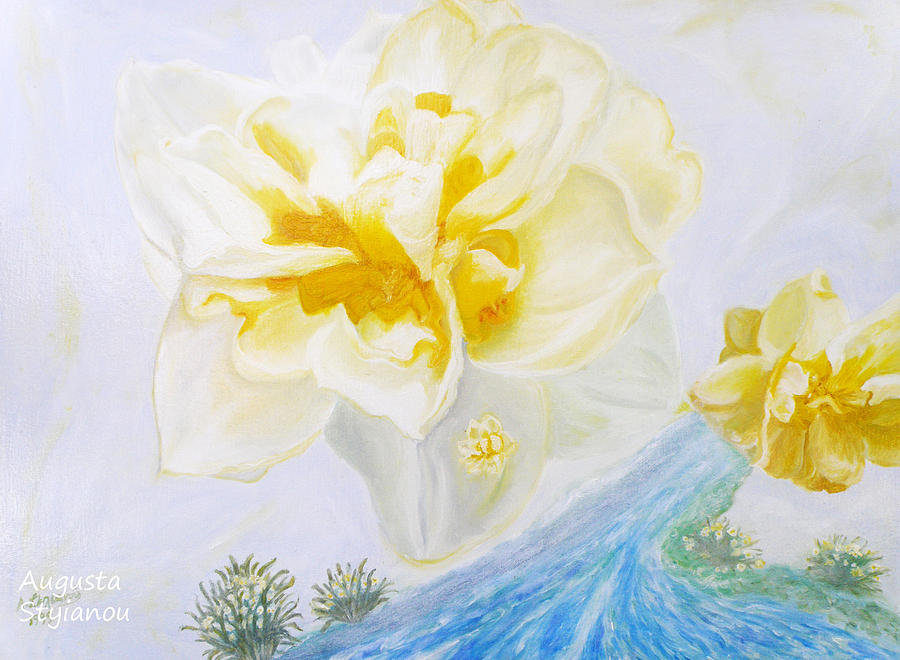 Narcissus Painting - Narcissus by Augusta Stylianou