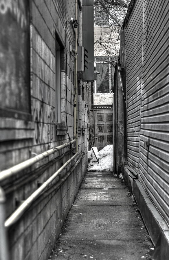 Alley Photograph - Narrow Alley by Nicky Jameson