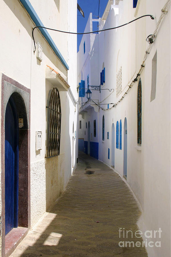 Asilah Photograph - Narrow Backstreet In The Medina Of Asilah On Northwest Tip Of Atlantic Coast Of Morocco by PIXELS  XPOSED Ralph A Ledergerber Photography