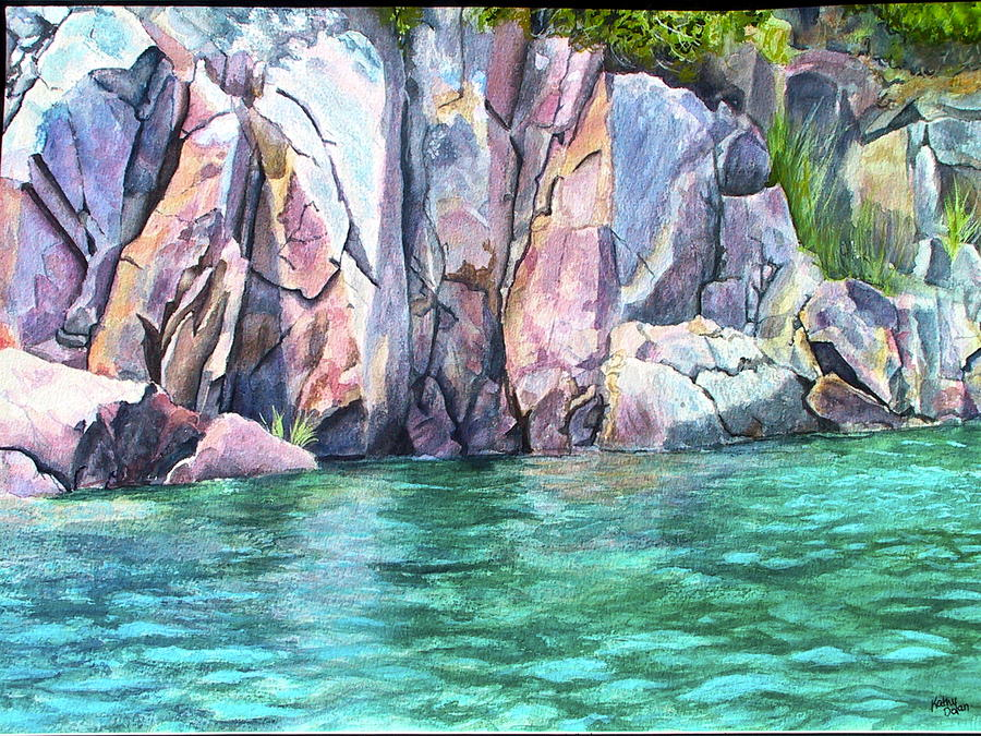 Watercolour Painting - Narrow Passage by Kathy Dolan