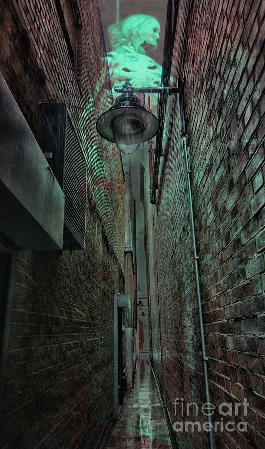 Skeleton Photograph - Narrow Street by Jasna Buncic
