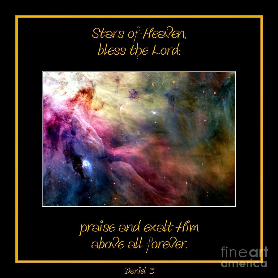 Nasa Photograph - Nasa Ll Ori And The Orion Nebula Stars Of Heaven Bless The Lord by Rose Santuci-Sofranko