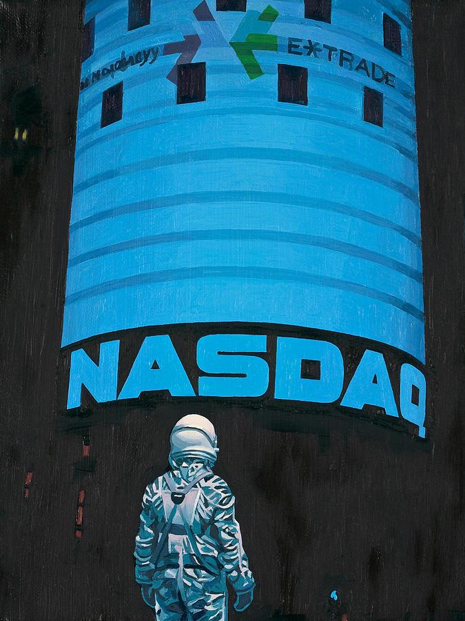 Astronaut Painting - Nasdaq by Scott Listfield