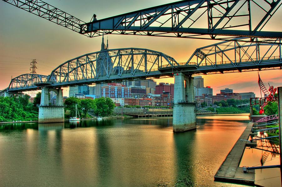Nashville Pyrography - Nashville Dusk by Zachary Cox