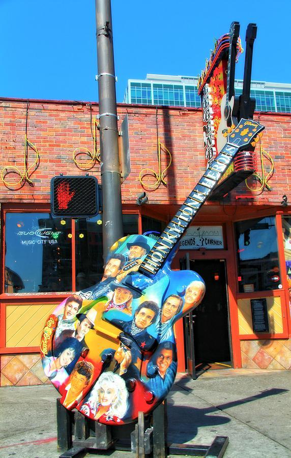Legends Guitar Photograph - Nashville Legends Guitar by Dan Sproul