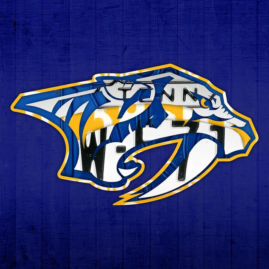 Nashville Predators Hockey Team Retro Logo Vintage ...