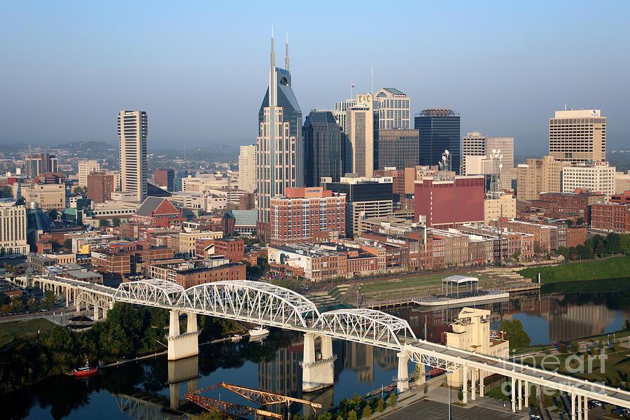 Nashville Skyline Photograph By Bill Cobb