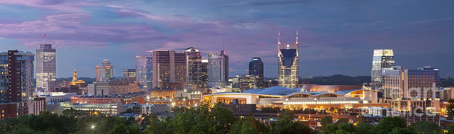At&t Photograph - Nashville Skyline by Brian Jannsen