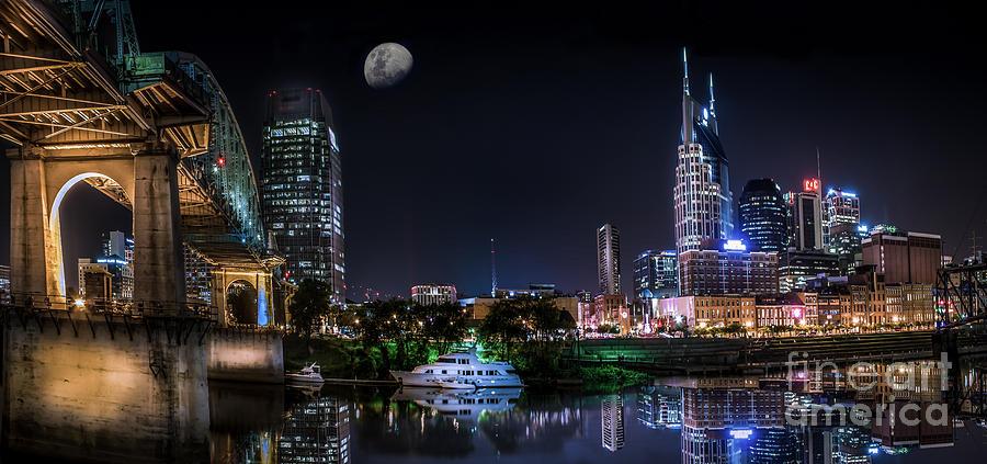 Nashville Skyline Panoramic Photograph By Desmond Lake