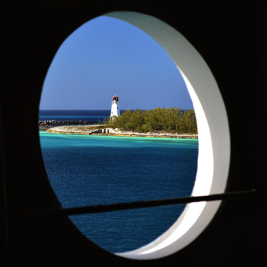 Nassau Lighthouse Photograph - Nassau Lighthouse Porthole View by Bill Swartwout Photography