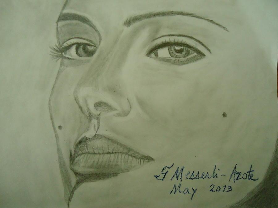 Star Drawing - Natalie by Fladelita Messerli-