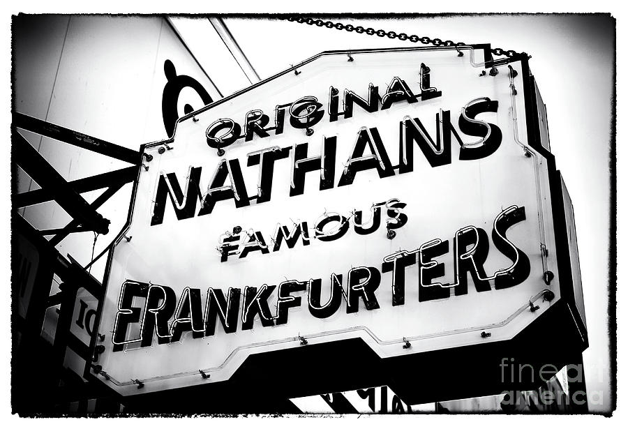 Nathans Photograph - Nathans Famous Frankfurters by John Rizzuto