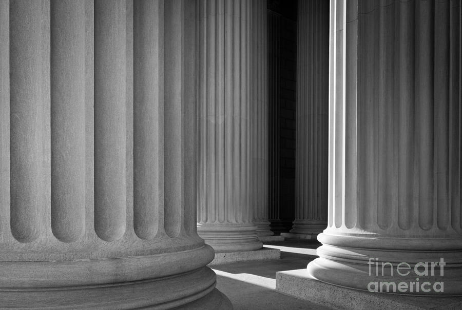 America Photograph - National Archives Columns by Inge Johnsson