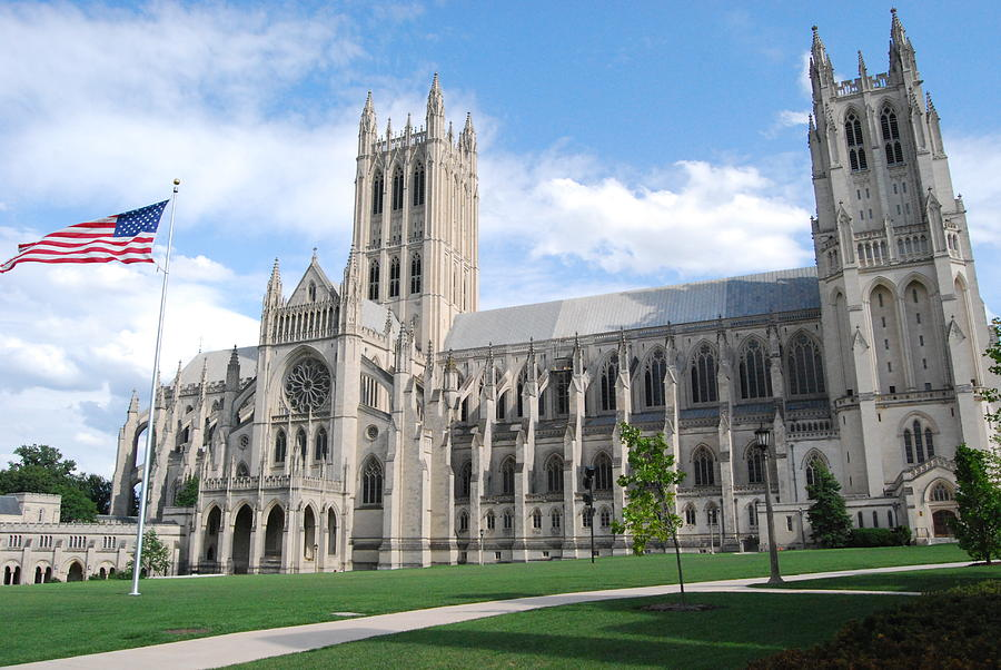Brick Photograph - National Cathedral by Rod Flasch