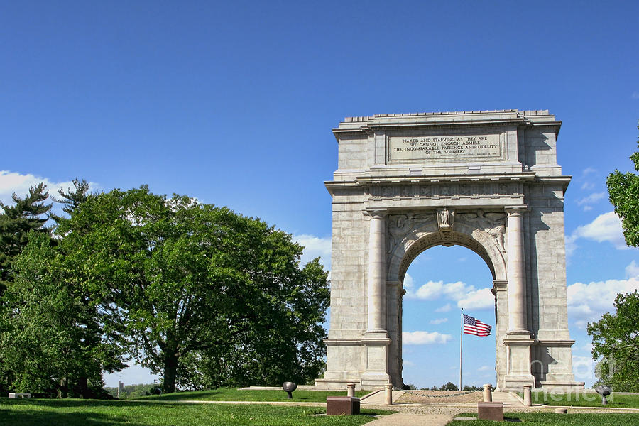 Valley Forge Photograph - National Memorial Arch At Valley Forge by Olivier Le Queinec