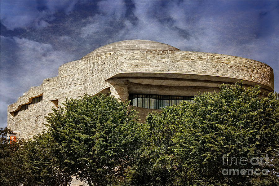 Building Photograph - National Museum Of The American Indian by Tom Gari Gallery-Three-Photography