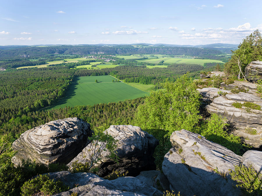 Bastei Photograph - National Park Saxon Switzerland by Martin Zwick