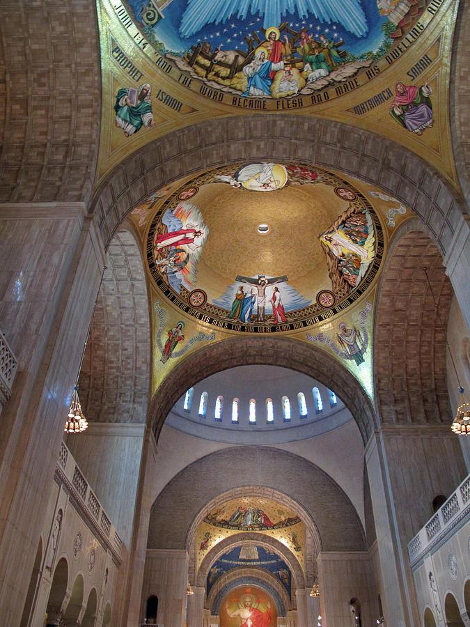 Basilica Photograph - National Shrine Interior by Barbara McDevitt