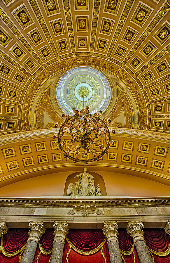 Architecture Photograph - National Statuary Hall by Susan Candelario