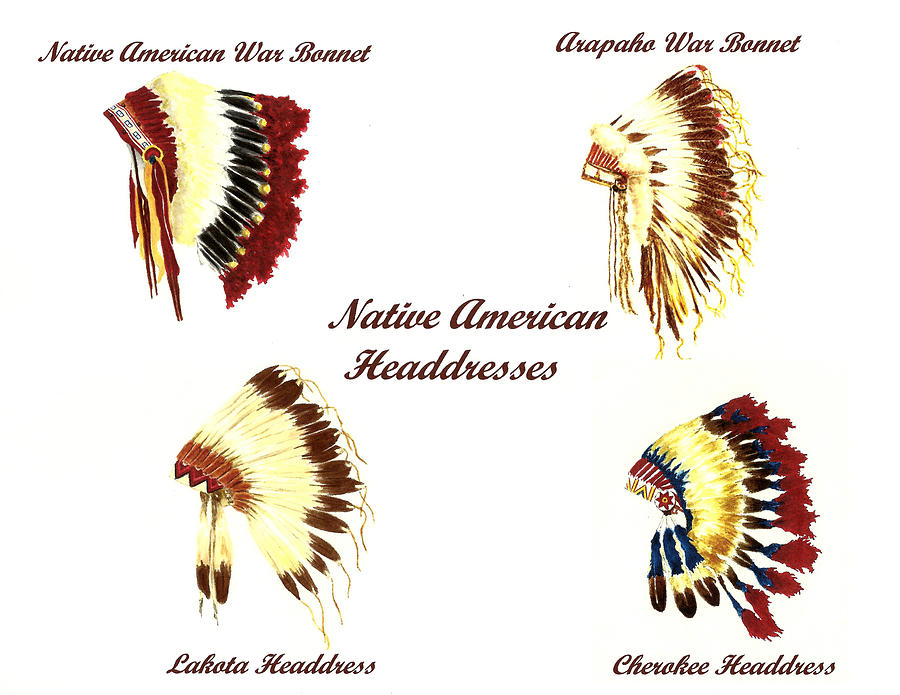 Native American Headdresses Number 3 by Michael Vigliotti