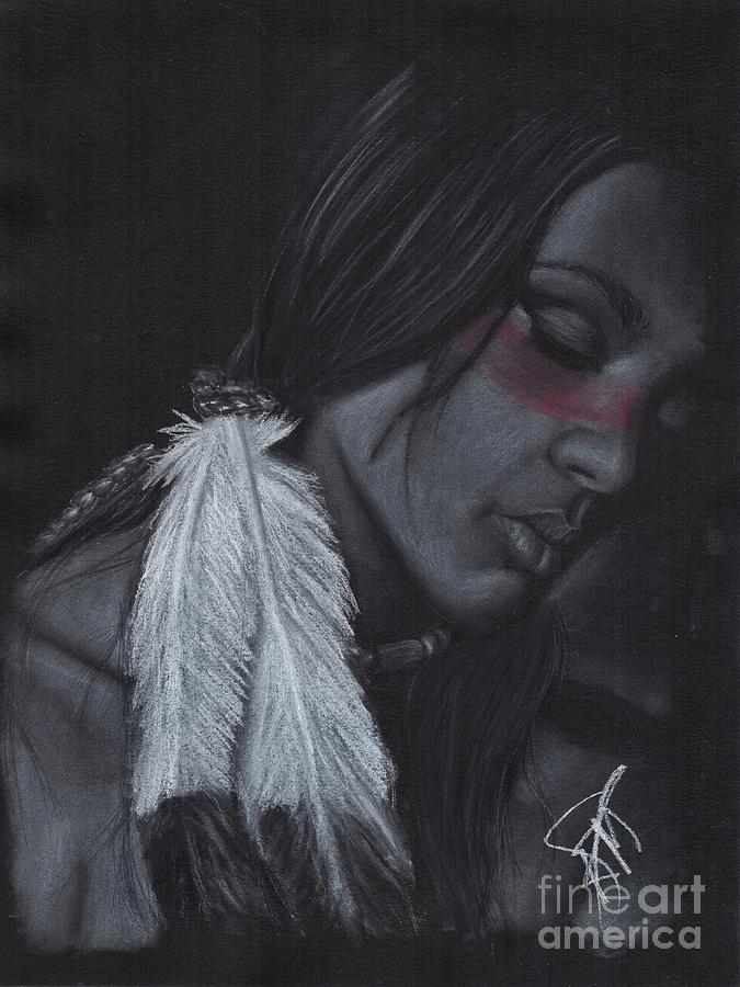 Native American Drawing - Native American by Rosalinda Markle