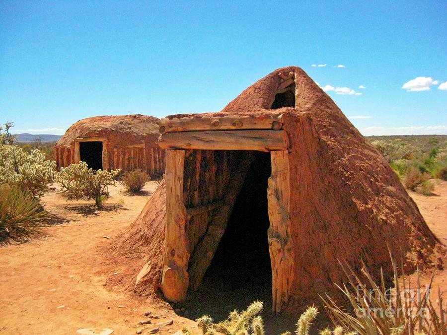 Native American Shelters Photograph - Native American Shelters by John Malone