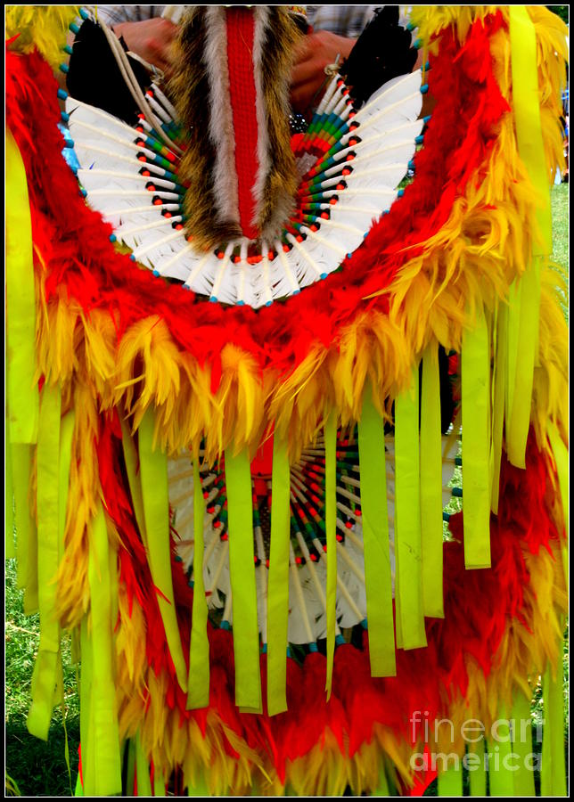 Native American Yellow Feathers Ceremonial Piece
