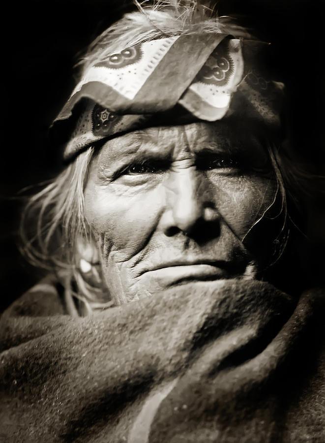 Edward Curtis Photograph - Native American Zuni -  Si Wa Wata Wa  by Jennifer Rondinelli Reilly - Fine Art Photography